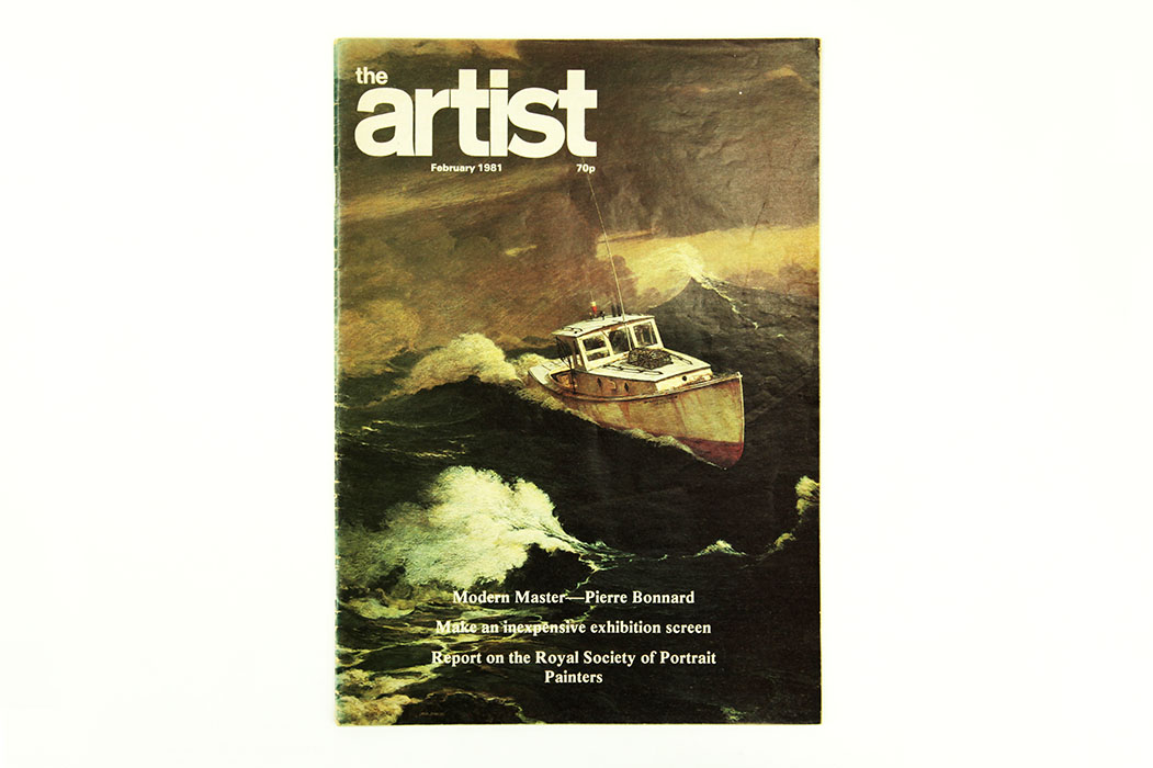 The Artist Magazine, February 1981. Sargy Mann Bonnard article.