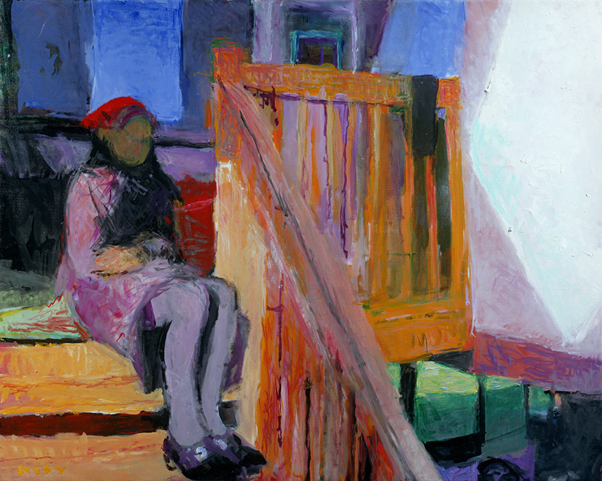 Frances on the Stairs, 2002