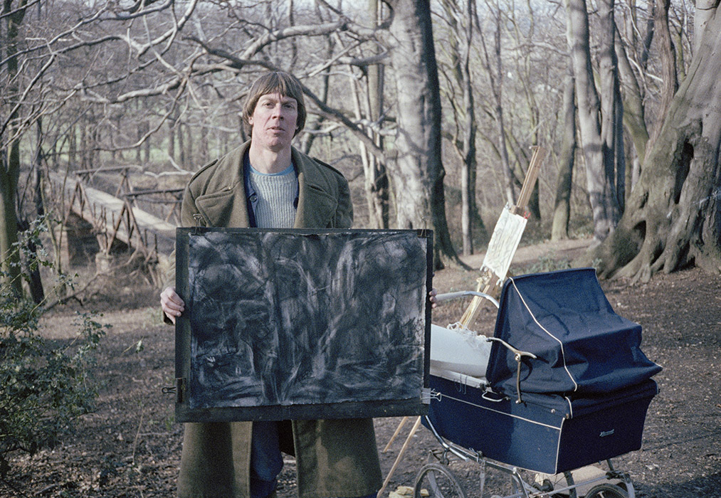 Sargy Mann in Peckermans wood, 1977
