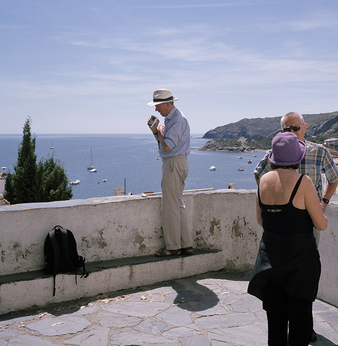 Sargy Mann at 'the point', Cadaques, 2005