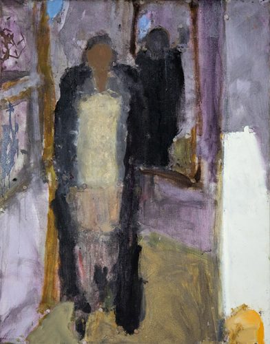 Frances in a black coat, 2008