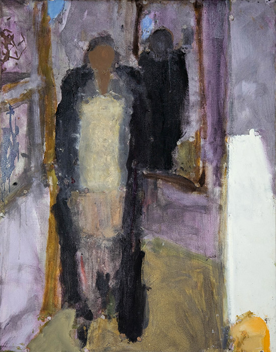 Frances in a black coat, 2008