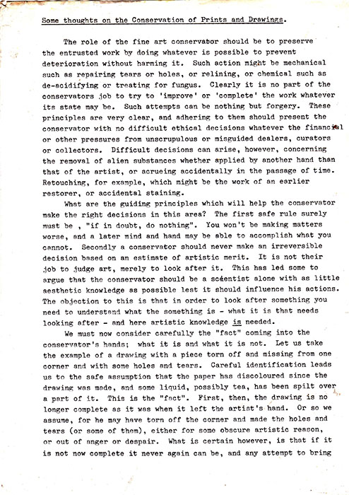 Original typed text, page 1