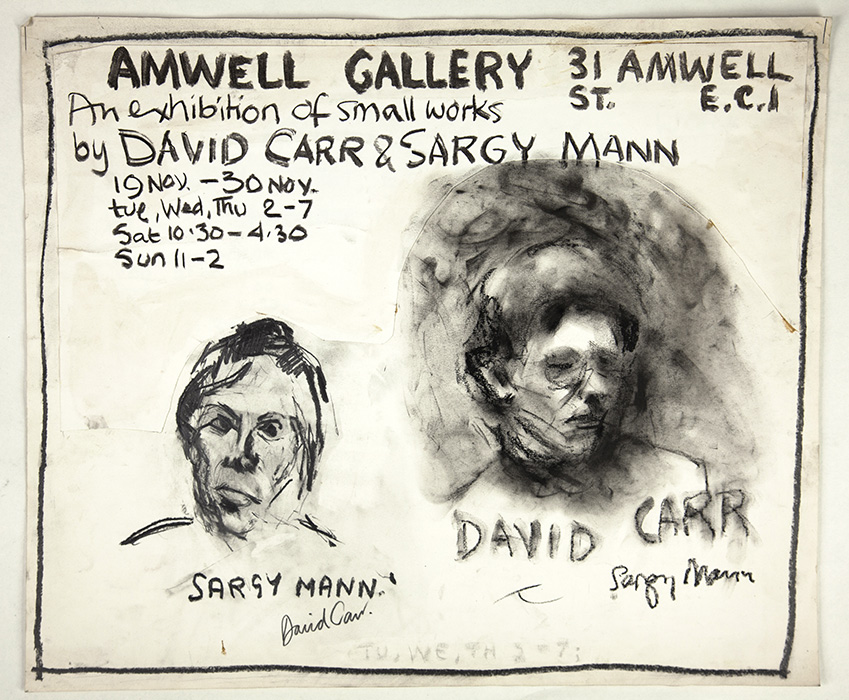 Sargy Mann And David Carr, Amwell Gallery, Exhibition Poster