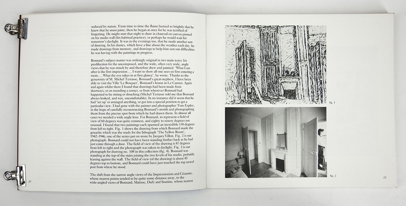 Bonnard Drawings at The Hayward Gallery, exhibition catalogue. Text 3