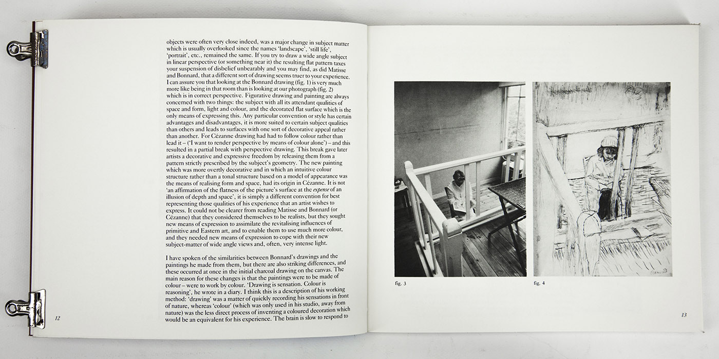 Bonnard Drawings at The Hayward Gallery, exhibition catalogue. Text 4