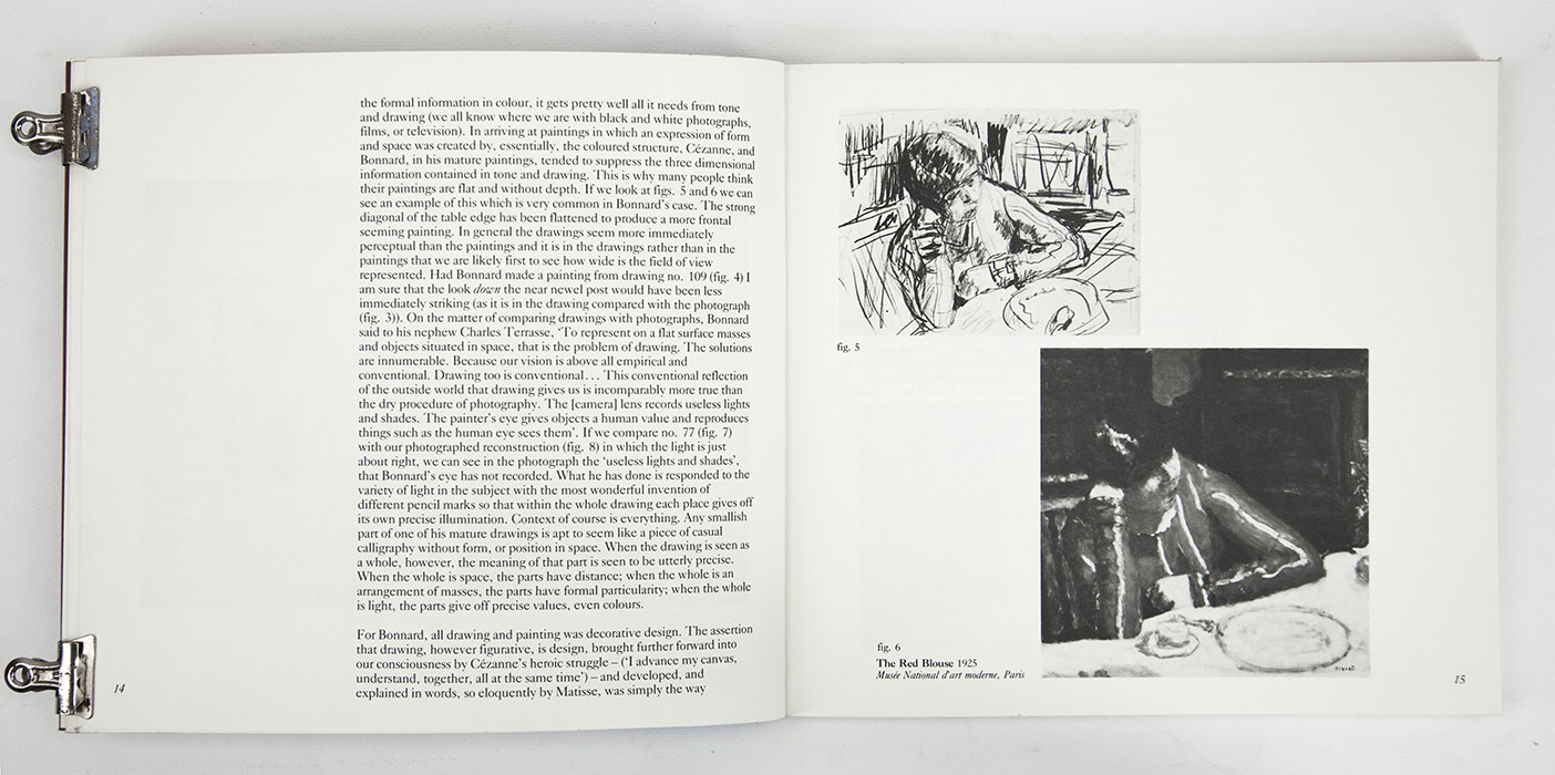 Bonnard Drawings at The Hayward Gallery, exhibition catalogue. Text 5