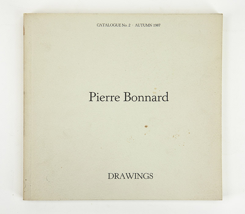 JPL Fine Art exhibition catalogue, Bonnard Drawings