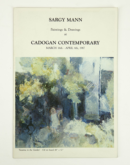 Exhibition card for Sargy Mann's 1987 solo Show at Cadogan Contemporary