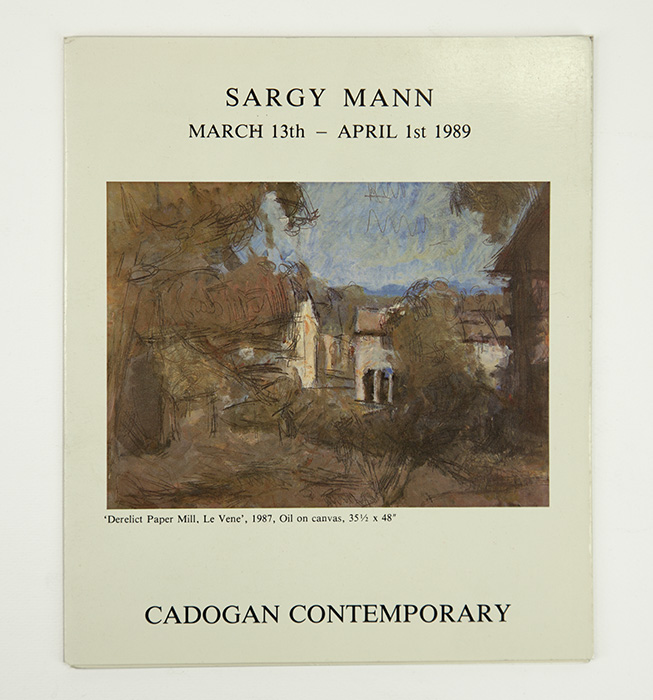 Exhibition card for Sargy Mann's 1989 solo Show at Cadogan Contemporary