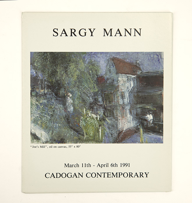 Exhibition card for Sargy Mann's 1991 solo Show at Cadogan Contemporary