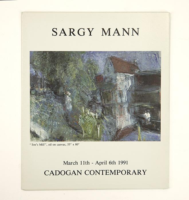 Exhibition card for Sargy Mann's 1991 solo Show at Cadogan Contemporary