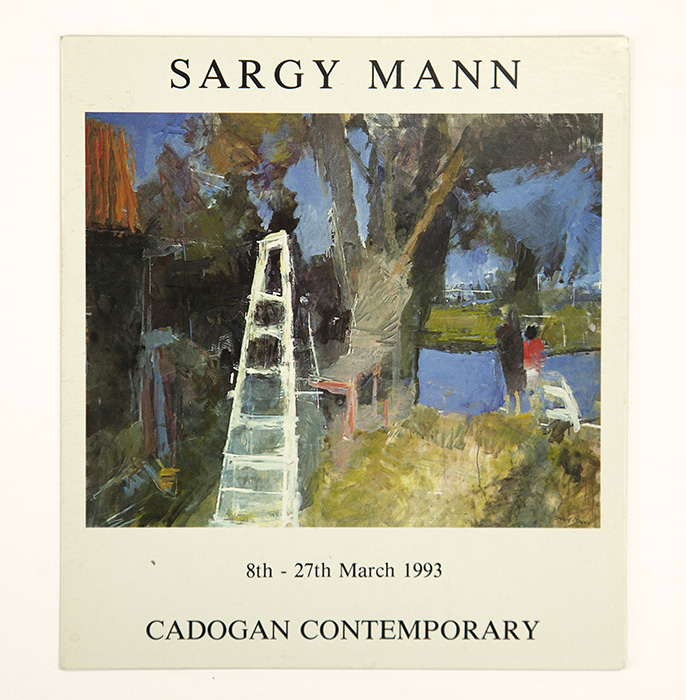 Exhibition card for Sargy Mann's 1993 solo Show at Cadogan Contemporary