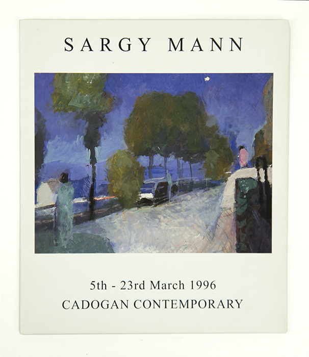 Exhibition card for Sargy Mann's 1996 solo Show at Cadogan Contemporary