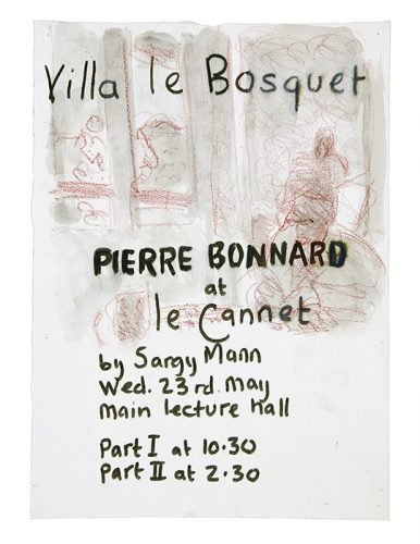Pierre bonnard at Le Cannet. Lecture poster