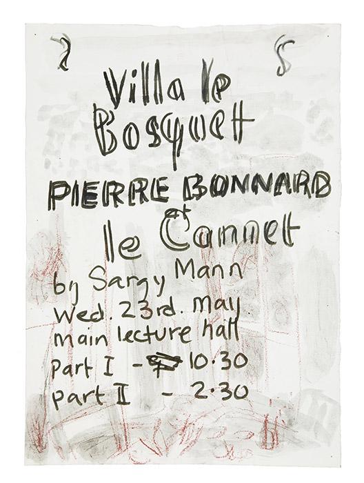Villa le Bosquet. Bonnard lecture poster