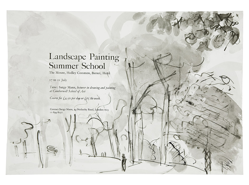 Lanscape painting summer school poster
