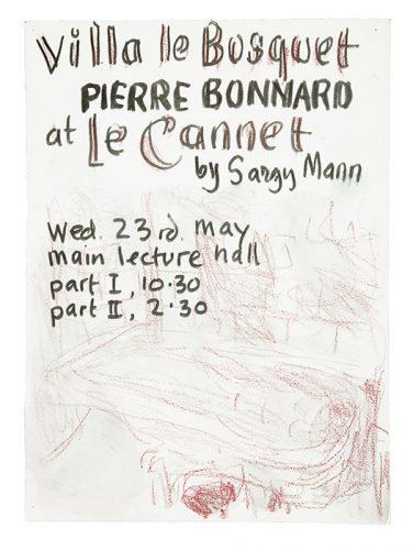 Villa le Bosquet, Pierre Bonnard at Le Cannet. Lecture poster