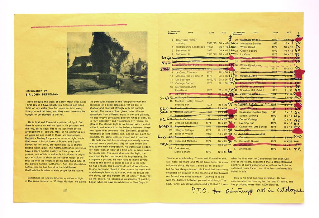 Salisbury festival, 1973, list of works