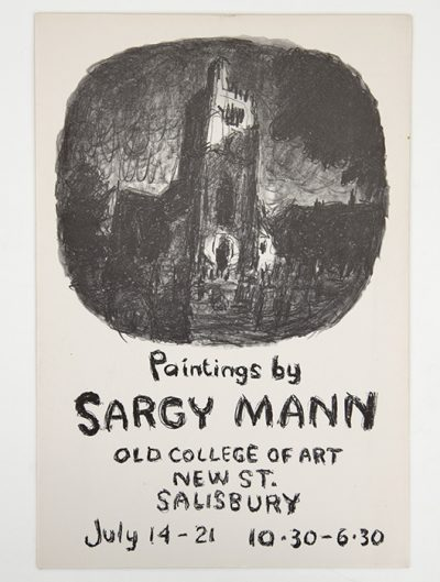 Paintings by Sargy Mann. Salisbury exhibition poster