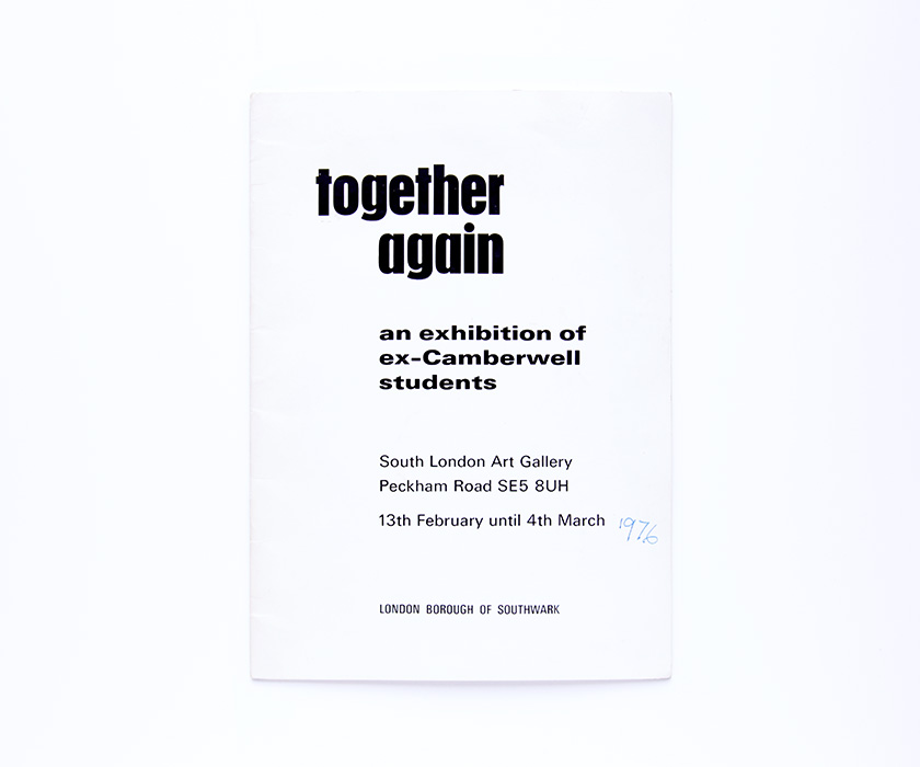 Together Again, South London Gallery, 1976, exhibition catalogue
