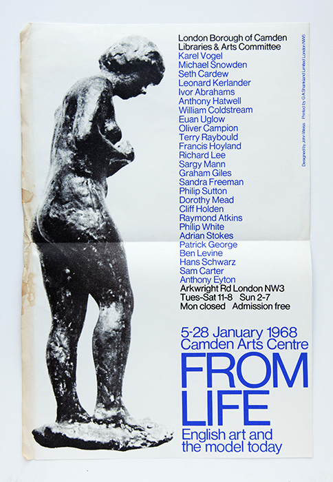 From Life, 1968, Camden Art's Centre, Poster