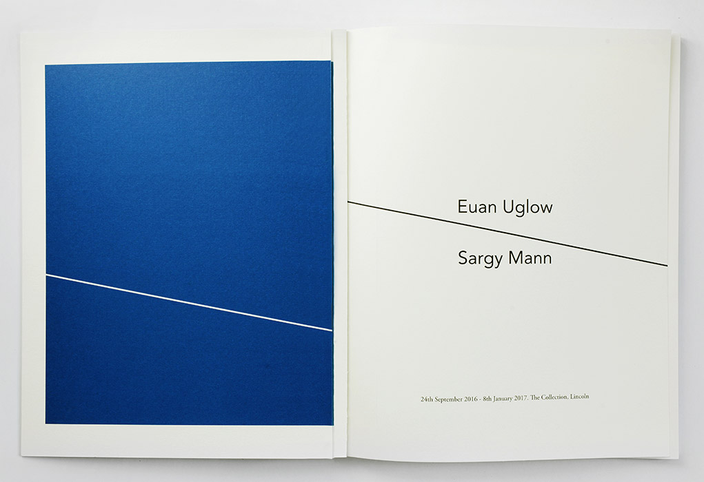 Exhibition catalogue for Euan Uglow / Sargy Mann at The Collection Lincoln. Spread 1