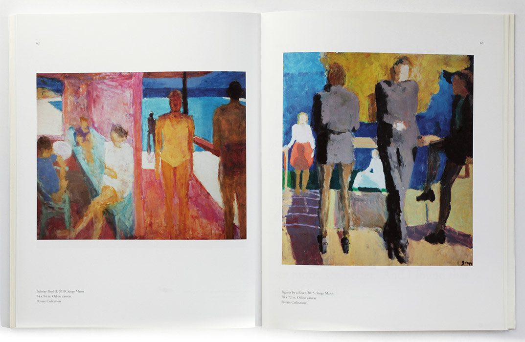 Exhibition catalogue for Euan Uglow / Sargy Mann at The Collection Lincoln. Spread 2