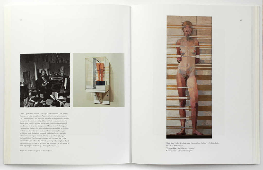 Exhibition catalogue for Euan Uglow / Sargy Mann at The Collection Lincoln. Spread 3