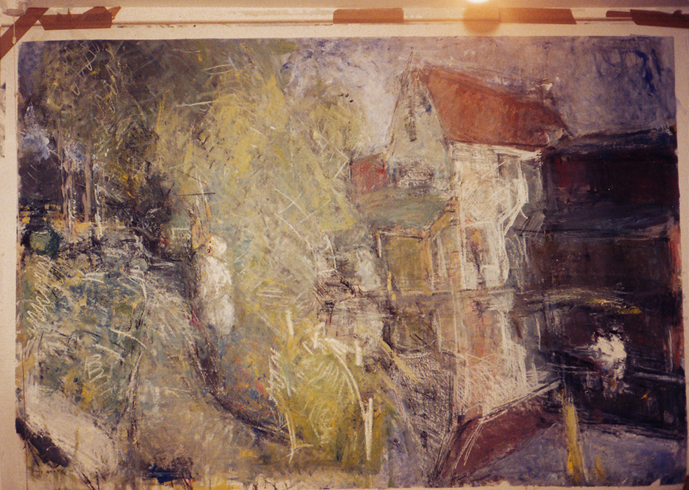 Unfinished stage of 'Joes Mill', 1990
