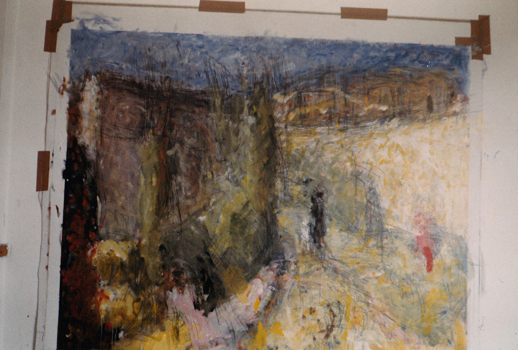 Unfinished stage of painting (currently not reproduced on site)