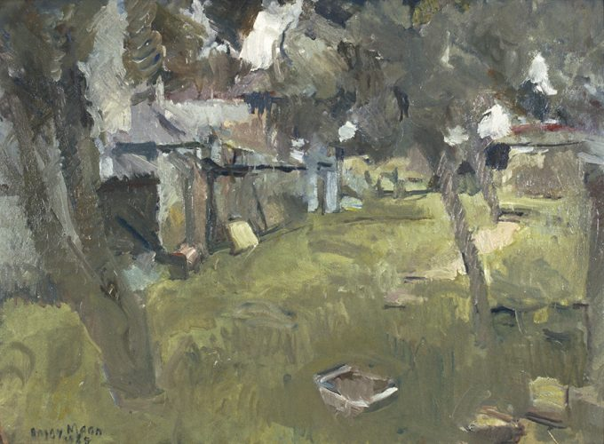 Grey Morning in a Devon Orchard, 1985