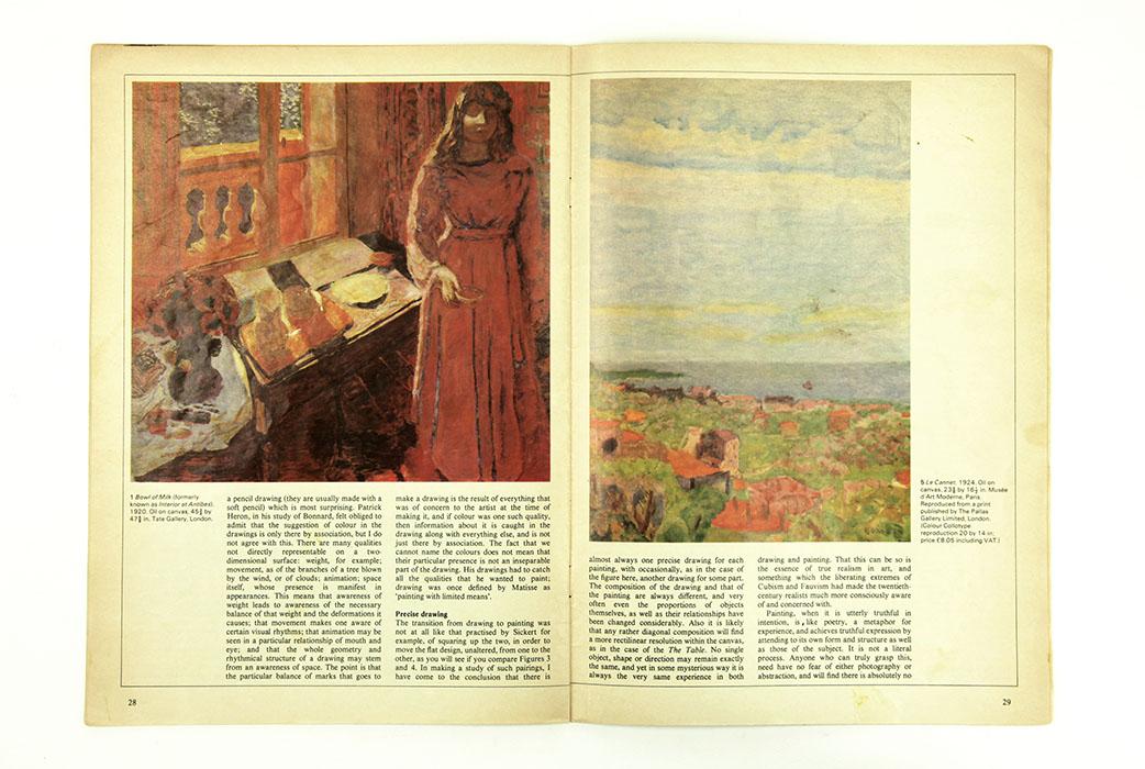 The Artist Magazine, February 1981. Sargy Mann Bonnard article.Spread 2.
