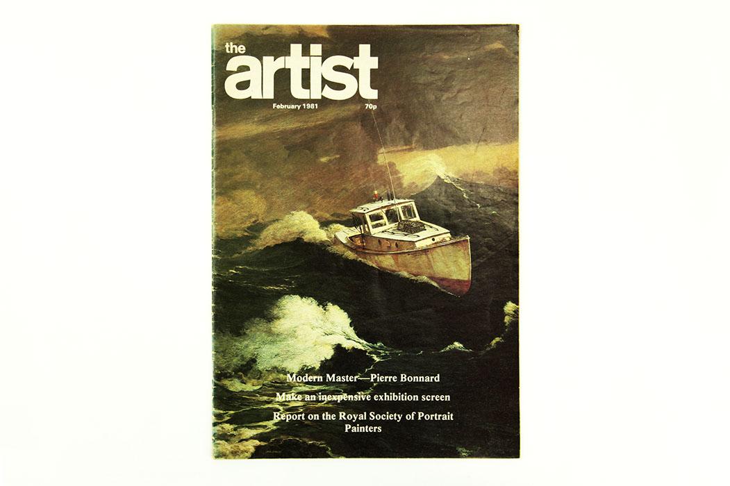 The Artist Magazine, February 1981. Sargy Mann Bonnard article.