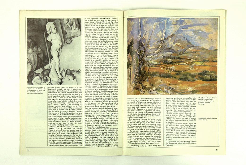 The Artist Magazine, June 1981. Sargy Mann essay on Paul Cezanne. Spread 2.