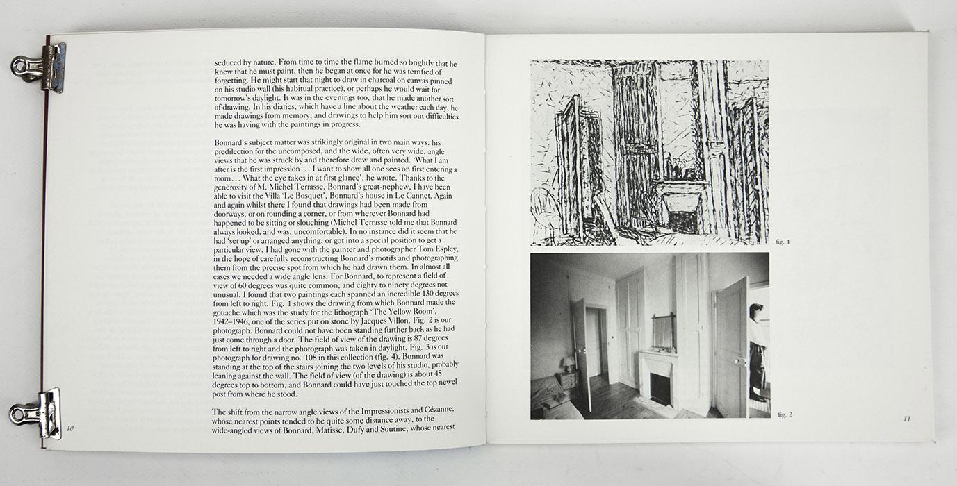 Bonnard Drawings at The Hayward Gallery, exhibition catalogue. Text 3