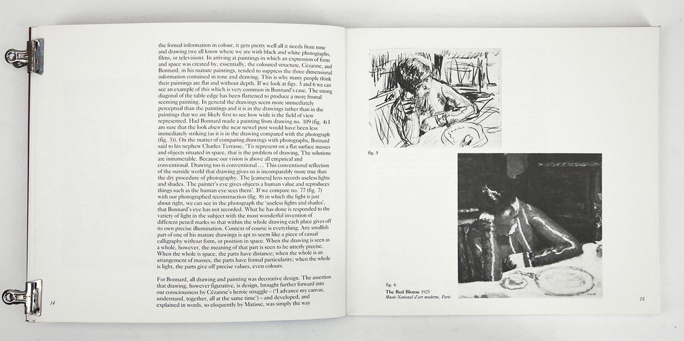 Bonnard Drawings at The Hayward Gallery, exhibition catalogue. Text 5
