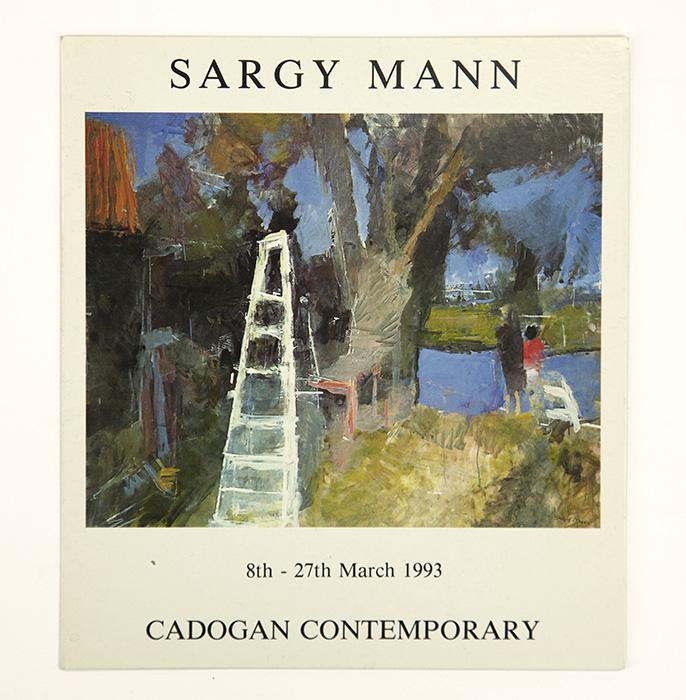 Exhibition card for Sargy Mann's 1993 solo Show at Cadogan Contemporary