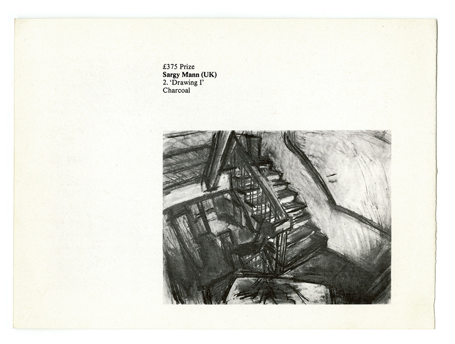 Second Cleveland International Drawing Biennale exhibition catalogue, Sargy Mann drawing