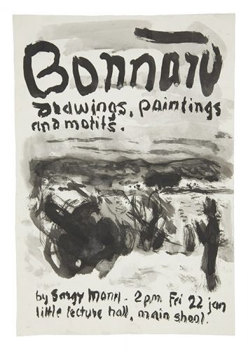 Bonnard, Drawings, Paintings and Motifs. Lecture Poster