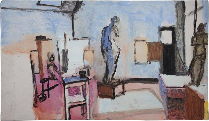 Studio at Camberwell Art School, 1976