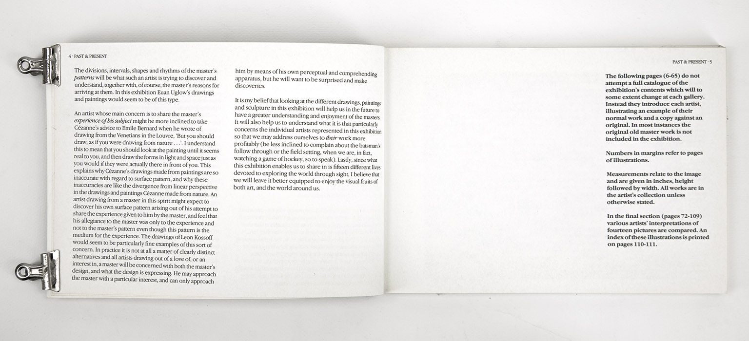 Past and Present. Exhibition catalogue, introduction 2