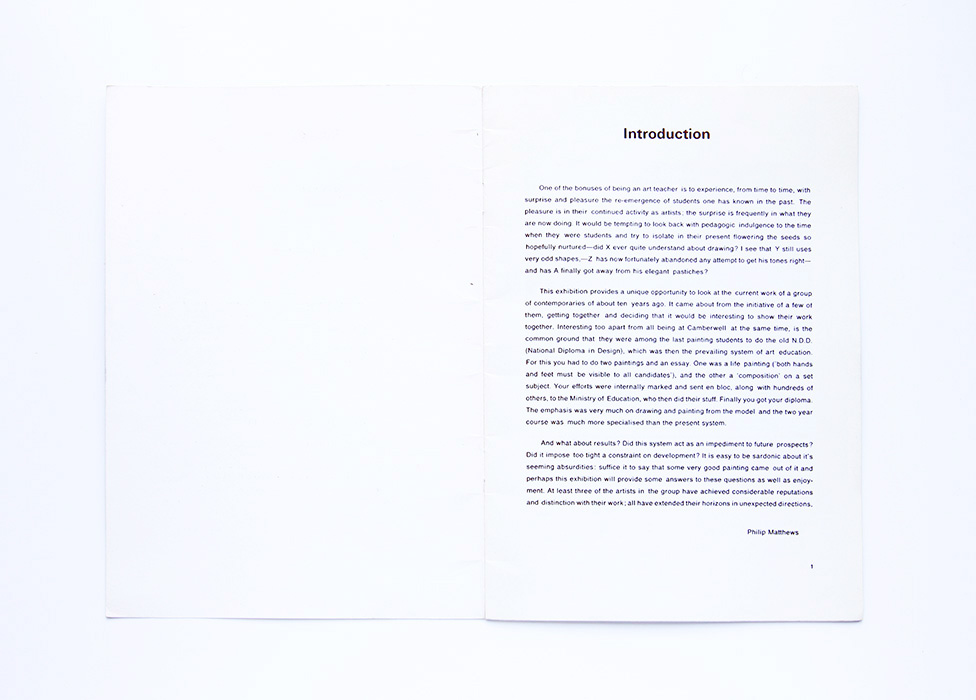 Together Again, 1976, catalogue introduction