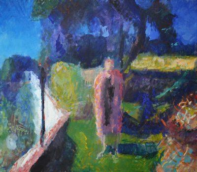 Penny standing in the Hidden Garden, 1995
