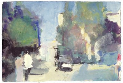 Piazza Behind the Church (Giove), 1994